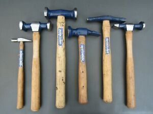 Set of vintage Whitehouse round & square, silversmiths, planishing hammers tools