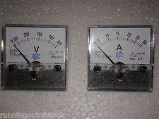Combo of Panel Analog Voltmeter 0-500V and Ammeter 0-30 AMP