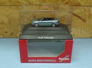 HERPA Nr.101356 Audi A4 Cabriolet (B6), eisblaumetallic (PC) - OVP