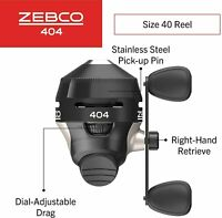 Zebco 404 Spincast Fishing Reel, Durable All-Metal gears, Pre-Spooled w/15lb