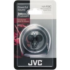 Jvc Ha-F10C Ear-Bud Black Stereo Headphones & Carry Case Universal 3.5mm Jack