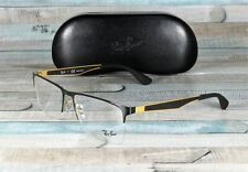 RAY BAN RX6335 2890 Gold Top On Black Demo Lens 56 mm Men's Eyeglasses
