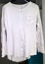 modische Damen Sweatshirt - Bluse , Hellgrau , Größe 38 - 42 , NEU