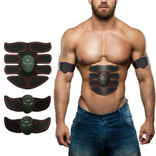 UK EMS Trainer Abs Abdominal Toning Muscle Toner Gym & Home Smart Fitness Belt