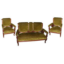 Victorian Parlor Set w/ Carved Lion Heads ,1800-1899 #459