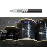 RF Coaxial Cable KSR195 10 feet -High Quality Low Loss Drop-in Replacement Cable