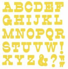 Lifestyle Crafts QuicKutz 4x4 Single Alphabet Die LEMON DROP Uppercase DA0235
