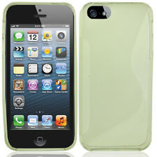 Apple iPhone 5 5S SE TPU Candy S-Line Flexi Gel Skin Case Cover Clear  S-Shape