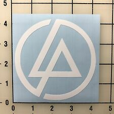 "Linkin Park Logo 4"" Wide White Vinyl Decal Sticker - BOGO"