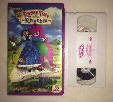 Barneys Rhyme Time Rhythm (VHS, 2000) Mother Goose RARE