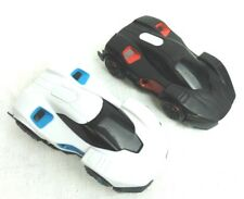 Lot of 2 Toy Wowwee Cars Black White Racing Sound