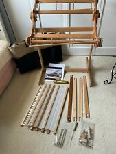 "Ashford 20"" Rigid Heddle Knitters loom, stand/brace/5reeds/4stick &1boat shuttle"