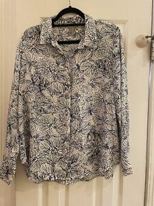 Womens floral H & M shirt size 14