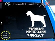 Wirehaired Pointing Griffon Parent(S) - Vinyl Decal Sticker / Color Choice