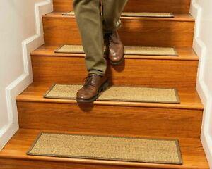 "9"" X 29"" Handmade 100% Sisal Durable Non-Slip Olympic Stair Treads Set of 8"