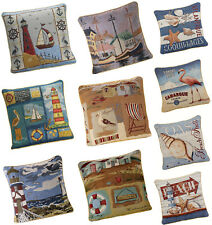 Tapestry Beach And Coast Cushion Covers - Rope Trimmed - Free Delivery