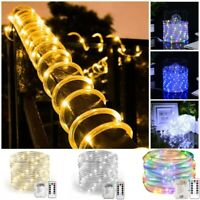 10M 100LED Outdoor Tube Rope Strip String Light RGB Lamp Xmas Home Decor Lights