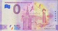 BILLET 0  EURO NORDSEEHEILBAD WANGEROOGE   ALLEMAGNE 2021 NUMERO DIVERS