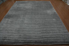 India 9x12 270x365 Hand Woven Knotted Back Art Silk Viscose Carpet Area Rug Hali