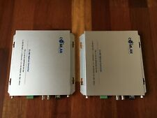 HD/SD-SDI + 10/100 Ethernet + 2 x RS-232 optical converter, 40km
