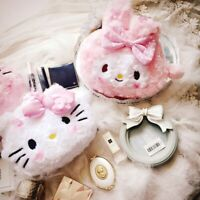 Kawaii Bowknot My Melody Kitty Plush Doll Soft Mini Cosmetic Bag Case Purse
