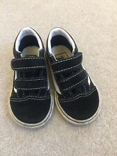 Vans Size Uk Kids 5, Unisex, Black And White