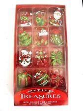"Kurt Adler Petite Treasures Vintage Style Ornaments, 12-Piece Box Set  1.25"" NEW"