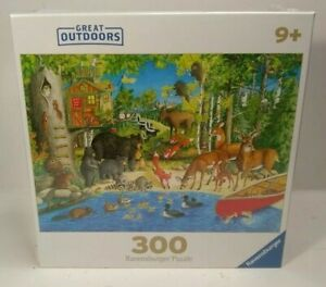 "NEW Ravensburger Great Outdoors Puzzle ""Woodland Friends"" 300 Pieces"