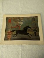 "Vintage W.H. Brown ""Bareback Riders"" Circus Print National Gallery of Art."