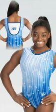 NWT E4269 Fluttered Stars Simone Biles GK ™ gymnastics leotard Free Scrunchie CL