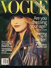 VOGUE November 1993 Fashion Magazine NADJA AUERMANN Cover by ARTHUR ELGORT VF