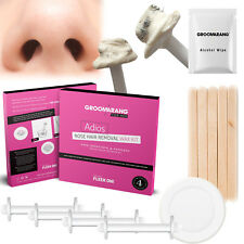 Groomarang For Her Adios Nose Hair Removal Wax Kit Painless & Easy Nasal Waxing