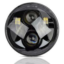 "5.75"" 5 3/4 LED Motorcycle Headlight Daymaker Black Projector DRL Bulb Fr Harley"