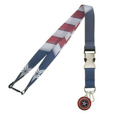 Captain America Suit-Up Lanyard Blue
