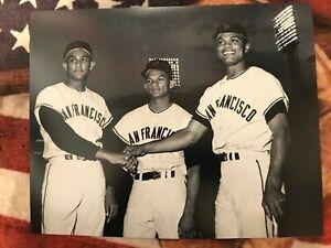 "Alou Brothers- 1963 SF Giants Baseball- 8"" x 10"" Photo- Felipe, Matty & Jesus"