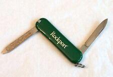 VICTORINOX Swiss ROCKPORT Dark Green + White Advertising Keychain Knife