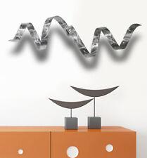 Jon Allen Metal Wall Art Sculpture 3D Silver Twist Handmade Modern Accent Decor