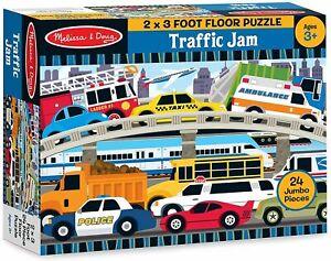 Melissa & Doug - Traffic Jam Floor Puzzle 24pc