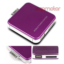 2200MAH EXTERNAL PURPLE BATTERY POWER CHARGER USB IPHONE 4S 4 3GS IPOD CLASSIC