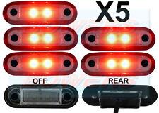 5 x 12V/24V FLUSH FIT RED REAR LED MARKER LAMPS / LIGHTS TRUCK VAN CAR KELSA BAR