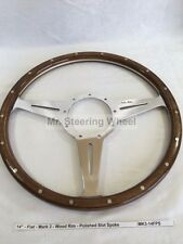 Moto-Lita Mark 3 Riveted Wood Steering Wheel - Size Spoke Options Available