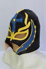 113.-ADULT REY MYSTERIO BLACK Foamy Wrestling Mask Adulto Size Wrestler Costume