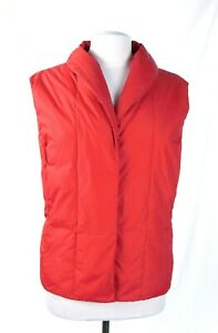 EUC Coldwater Creek Red 60% Down 40% Feather Lightweight Puffer Vest Size XL