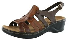 Clarks Women's Lexi Marigold Leather Sandals Ab3 Brown Size US 7