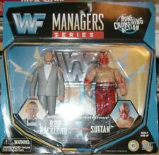 WWF WWE Jakks Pacific 1997 Managers Series 1 Bob Backlund and Sultan MIB#A3335.