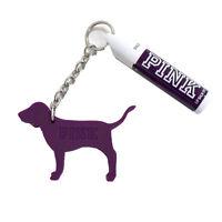 Victoria's Secret Pink Lip Balm Sunscreen SPF 15 Dog Logo Keychain Chap Stick Vs