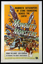 MONOLITH MONSTERS REYNOLD BROWN ART SCIENCE FICTION 1957 1-SHEET LINENBACKED