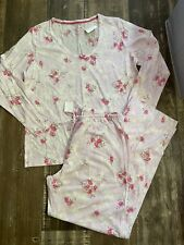Nwt Carole Hochman 100% Cotton Jersey Pajama PJ Set L Large