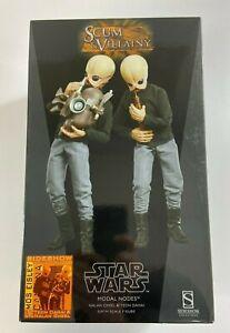 Star Wars Nalan Cheel & Tedn Dahai Bith Band Modal Nodes Figure Set hot toys NEW