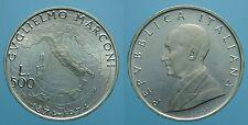 REPUBBLICA ITALIANA 500 LIRE 1974 R MARCONI FDC 1